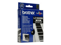 Brother LC-1000BK - svart - original - bläckpatron LC1000BK